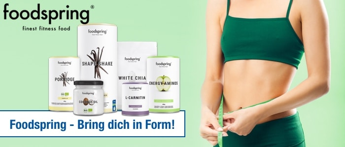 foodspring supplements produkte abnehmen sport muskel