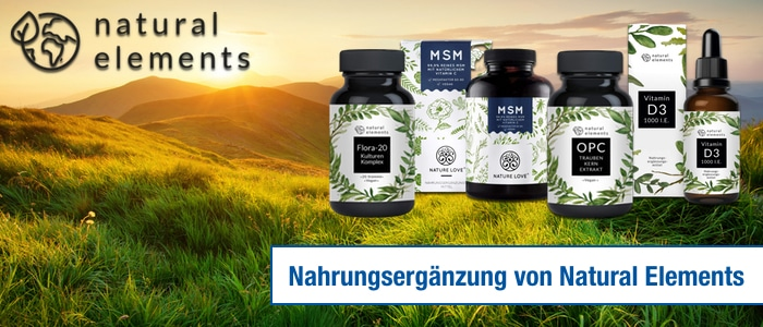 natural elements nahrungsergänzung opc msm flora 20