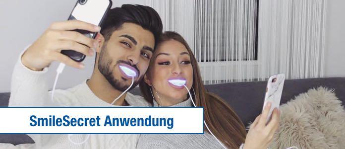 SmileSecret Anwendung Phonebleaching Anleitung