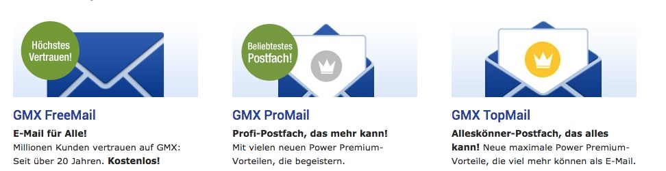 gmx email postfach freemail topmail promail kostenlose mail adresse
